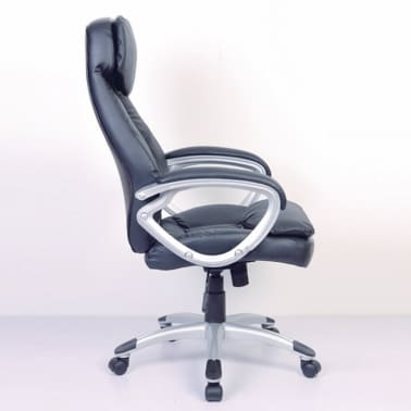 Black Office Chair Real Leather[3/5]