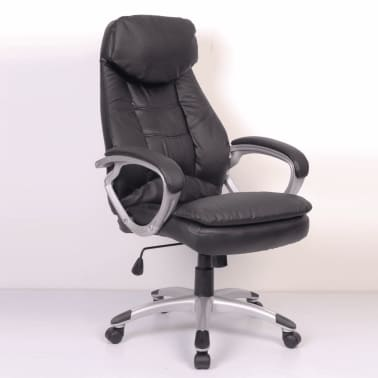 Black Office Chair Real Leather[5/5]