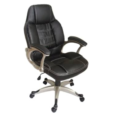 Enjoyable Black Office Chair High Back Real Leather Gmtry Best Dining Table And Chair Ideas Images Gmtryco