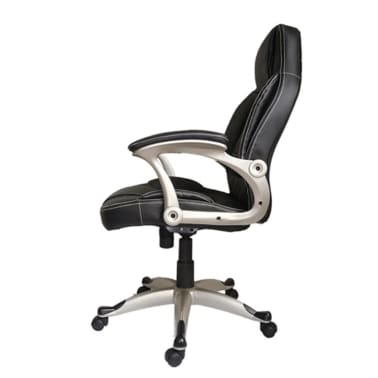 Black Office Chair High Back Real Leather[2/2]
