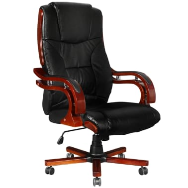 Black Real Leather Office Chair High Back[1/7]