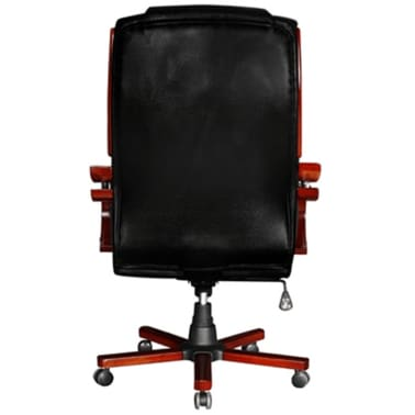 Black Real Leather Office Chair High Back[7/7]