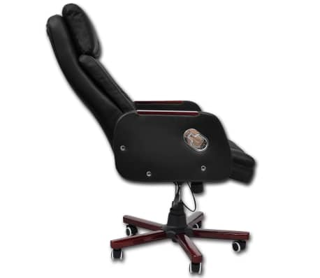 Black Adjustable Artificial Leather Office Chair Recliner[5/8]