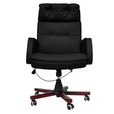 Black Adjustable Artificial Leather Office Chair Recliner[7/8]