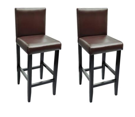 Set of 2 Modern Brown Bar Stool[2/4]