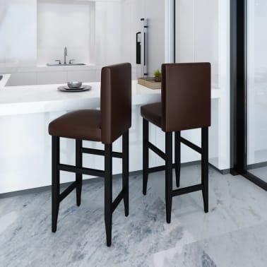 Set of 2 Modern Brown Bar Stool[1/4]