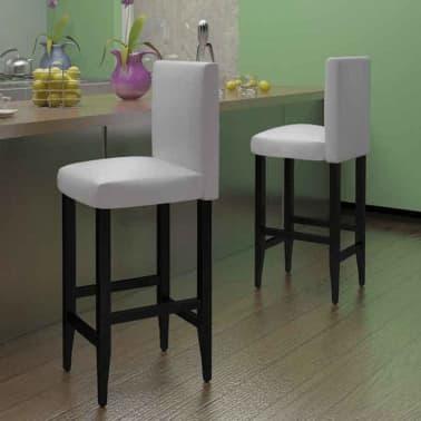 Set of 2 Modern White Bar Stool[1/4]