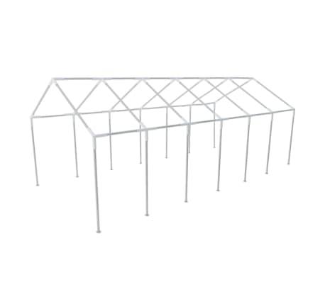 vidaXL White Party Tent 40' x 20'[4/8]