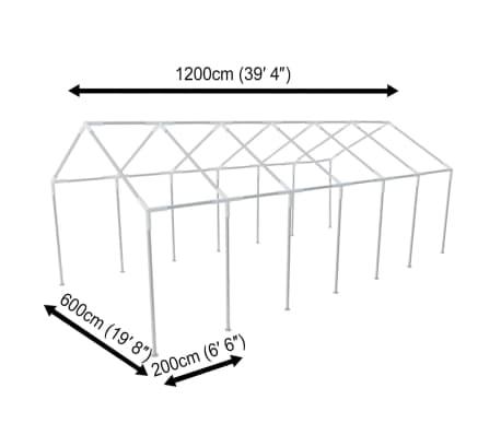 vidaXL White Party Tent 40' x 20'[5/8]