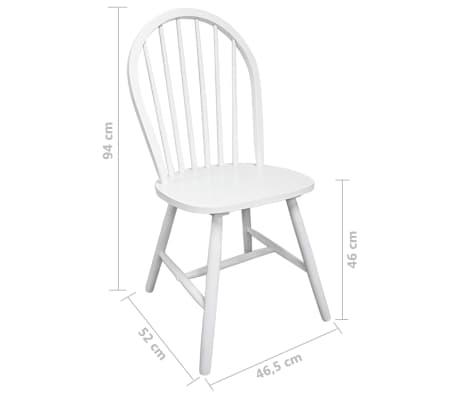 2x holz esszimmerstuhl k chenstuhl rund wei g nstig kaufen. Black Bedroom Furniture Sets. Home Design Ideas