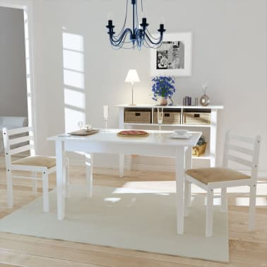 vidaxl esszimmerst hle 2 stk holz wei viereckig g nstig. Black Bedroom Furniture Sets. Home Design Ideas