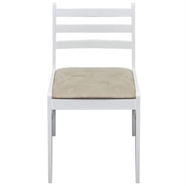 vidaXL Krzesła do jadalni, 4 szt., drewniane, kwadratowe, białe[3/6]