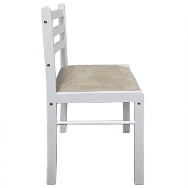 vidaXL Krzesła do jadalni, 4 szt., drewniane, kwadratowe, białe[5/6]