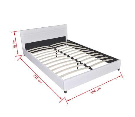 vidaxl lit avec led 160 x 200 cm cuir artificiel blanc1111 - Lit 160x200 Avec Led