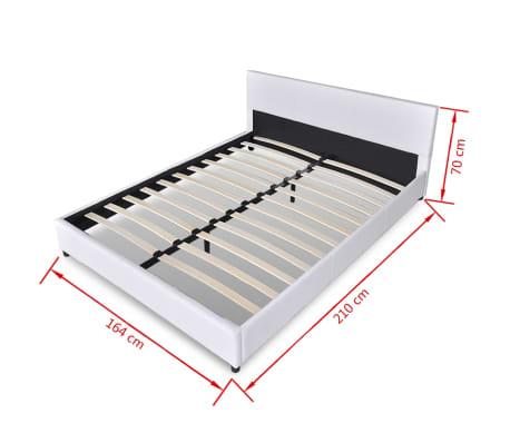 vidaxl bett 160 x 200 cm kunstleder wei g nstig kaufen. Black Bedroom Furniture Sets. Home Design Ideas