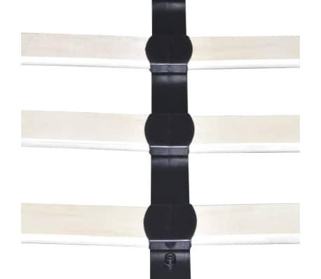 vidaXL Lova su LED, 160 x 200 cm, dirbtinė oda, balta[7/11]