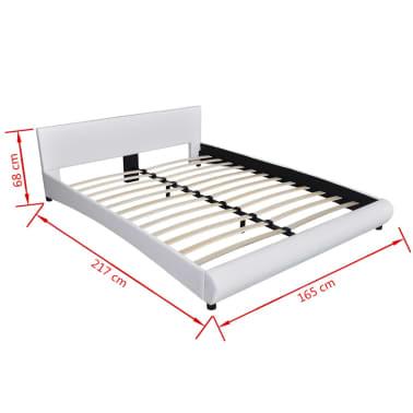 vidaXL Lova su LED, 160 x 200 cm, dirbtinė oda, balta[11/11]