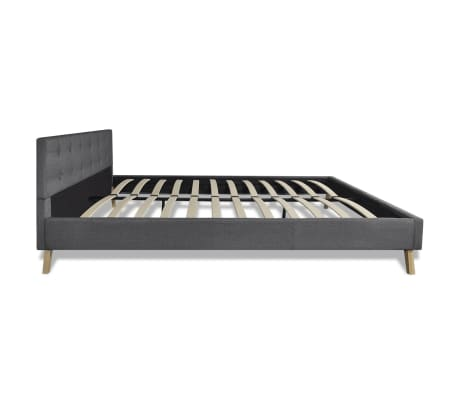 vidaXL Bed hoge kwaliteit 200x160 cm hout met donkergrijze stoffen bekleding[6/9]