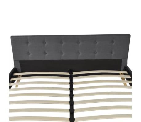vidaXL Bed hoge kwaliteit 200x160 cm hout met donkergrijze stoffen bekleding[7/9]