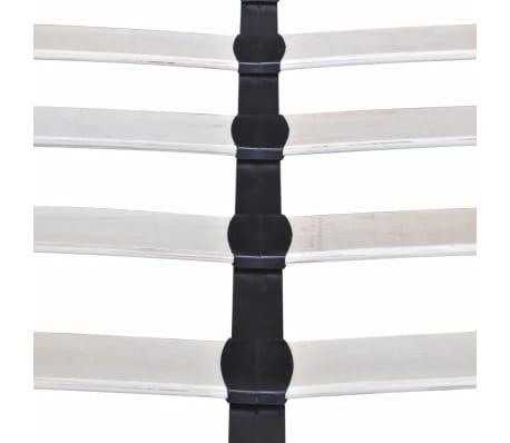 Łóżko z drewnianą ramą z materiałowym CIEMNO SZARYM obiciem 200x160 cm[9/9]