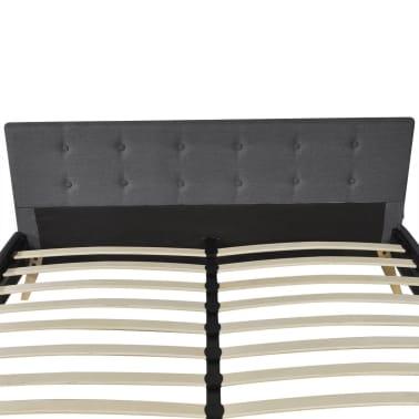 Łóżko z drewnianą ramą z materiałowym CIEMNO SZARYM obiciem 200x160 cm[7/9]