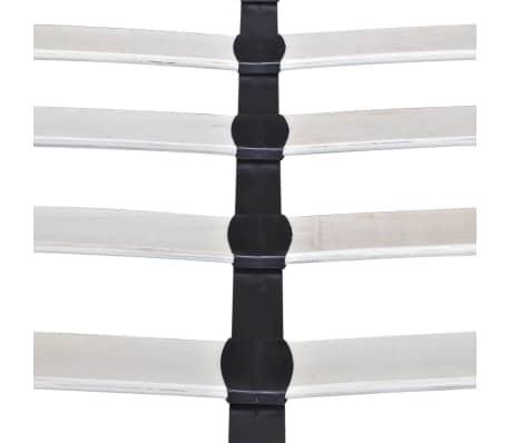 vidaXL Lovos rėmas su LED juosta, šv. pilkas, 140x200 cm, audinys[5/10]