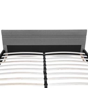 vidaXL Lovos rėmas su LED juosta, šviesiai pilkas, 180x200 cm, audinys[6/11]