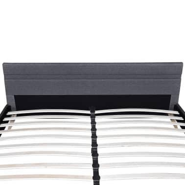 vidaXL Lovos rėmas su LED, tamsiai pilk., audinys, 180x200cm[5/11]
