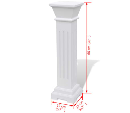 Classic Square Pillar Plant Stand MDF[7/7]