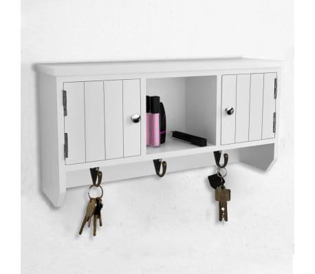 vidaXL Wandschrank für Schlüssel und Schmuck mit Türen und Haken[7/8]