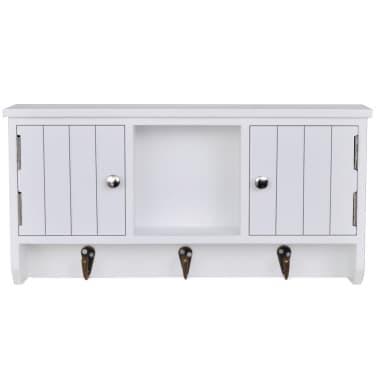 vidaXL Wandschrank für Schlüssel und Schmuck mit Türen und Haken[3/8]