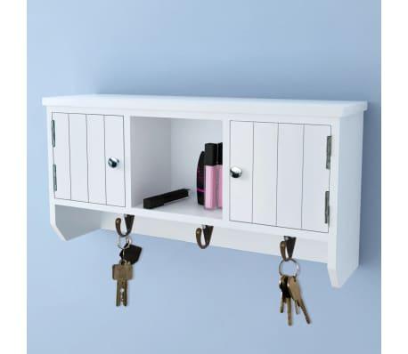 vidaXL Wandschrank für Schlüssel und Schmuck mit Türen und Haken[1/8]