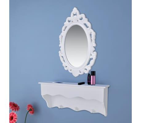 wandregal f r schl ssel und schmuck mit spiegel und haken g nstig kaufen. Black Bedroom Furniture Sets. Home Design Ideas