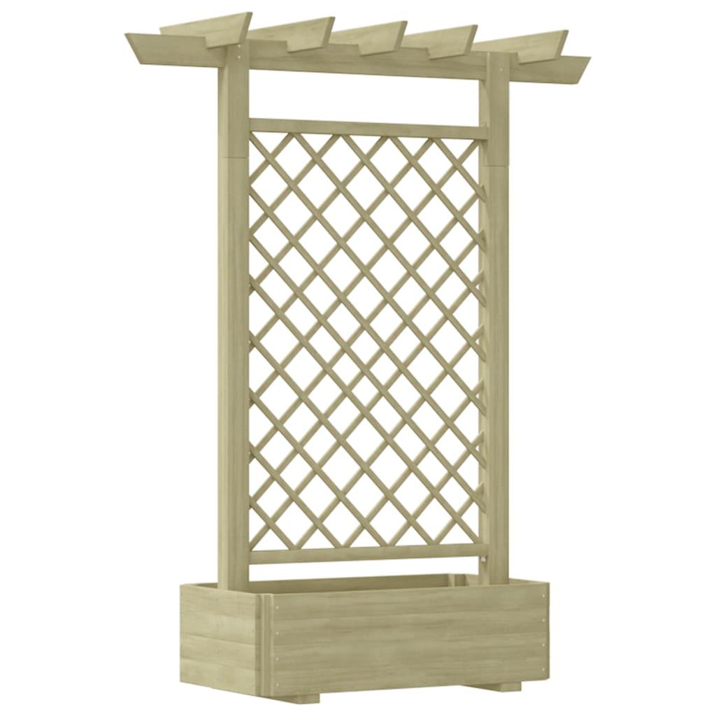 Zahradní truhlík s pergolou 162x56x204 cm dřevěný