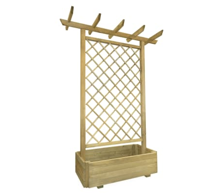vidaXL Pérgola con jardinera de madera 162x56x204 cm
