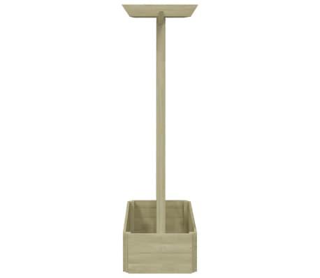 vidaXL puķu kaste ar režģi un jumtiņu, 162x56x204 cm, FSC, koks[3/3]