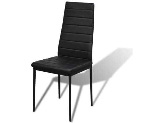 Contemporary Dining Set with Table and 4 Chairs Black[4/4]
