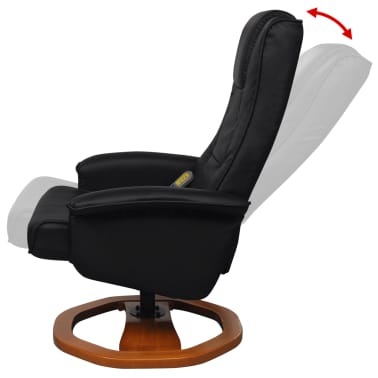 vidaXL Electric Massage Chair with Footstool Artificial Leather Black[6/7]