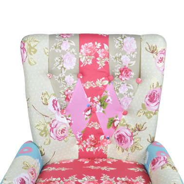 Patchwork Armchair Fabric Upholstery[5/5]
