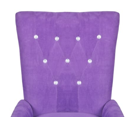 Luxury Armchair Velvet-coated Purple[3/5]