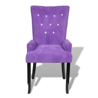 Luxury Armchair Velvet-coated Purple[5/5]