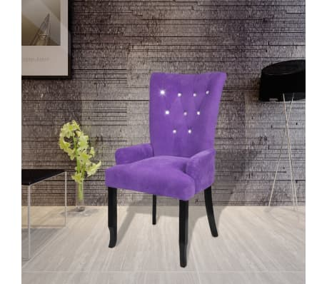 Luxury Armchair Velvet-coated Purple[1/5]