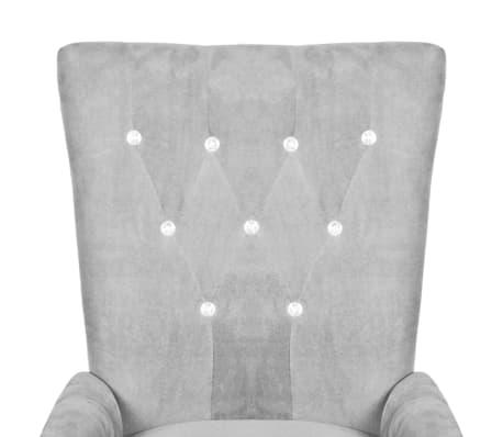 Luxury Armchair Velvet-coated Silver[3/5]