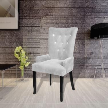 Luxury Armchair Velvet-coated Silver[1/5]