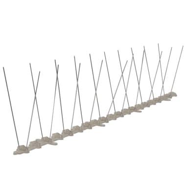 Set 6 Dissuasori di picchi anti-piccione di plastica 2 ...
