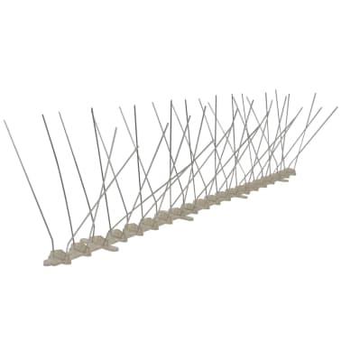 vidaXL 4-row Plastic Bird & Pigeon Spikes Set of 6[2/5]