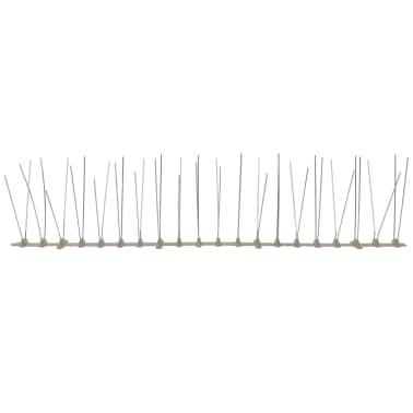 vidaXL 4-row Plastic Bird & Pigeon Spikes Set of 6[5/5]