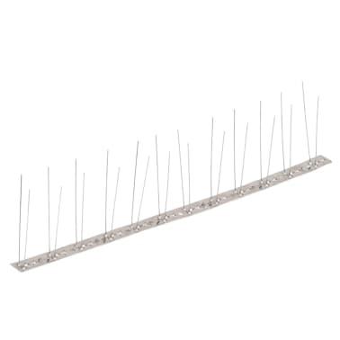 vidaXL 2-row Stainless Steel Bird & Pigeon Spikes Set of 6[2/4]