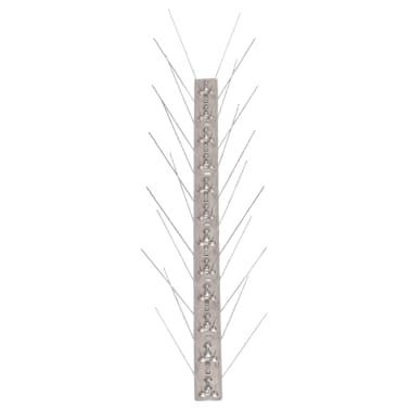 vidaXL 4-row Stainless Steel Bird & Pigeon Spikes Set of 6[3/4]