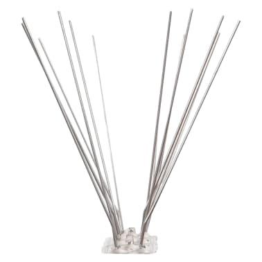vidaXL 4-row Stainless Steel Bird & Pigeon Spikes Set of 6[4/4]